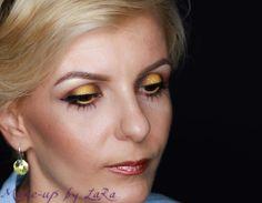 Yellow and brown makeup