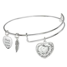 Best Bracelets For Women | Sterling Silver Christian Cross With God All Things Are Possible Heart Charm Adjustable Wire Bangle Bracelet ** Be sure to check out this awesome product. Note:It is Affiliate Link to Amazon.