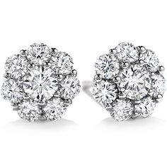 """A stunning ensemble of perfectly cut Hearts On Fire diamonds creates an exceptional diamond stud earring that is beyond brilliant and truly """"beloved"""". #CorinneWishList"""