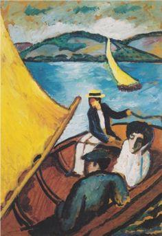 Sailingboat on theTegernsee - August Macke