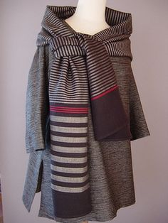 Great statement...wonderful use of Japanese textiles