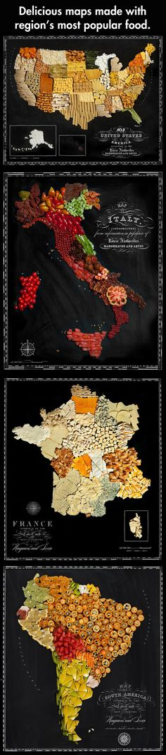 Beautiful Maps of Countries Made Out of Real Food. Someone had too much god dammed time. I'm also very hungry right now...