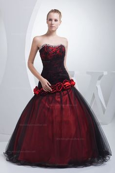 Amazing Beading Hemed Neckline Lace Pleats Flower Detailed Ball Gown