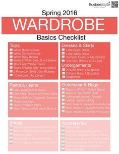 Spring Wardrobe Basics Checklist 2016.001