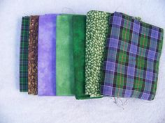 Bundled Fat Quarters Purple and Green by GabbysQuiltSupplies, #crafts,sewing,quilting,supplies