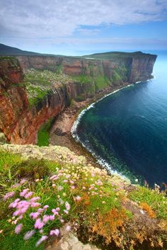 Cliffs Near Old Man Of Hoy, Orkney Scotland Places In Scotland, Scotland Travel, Scotland Trip, Places Around The World, Around The Worlds, Orkney Islands, Brittany France, Beautiful Places, Amazing Places