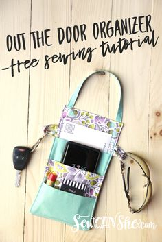 Out the Door Organizer - free sewing tutorial Be ready to walk out the door anyt. Out the Door Organizer - free sewing tutorial Be ready to walk out Easy Sewing Projects, Sewing Projects For Beginners, Sewing Hacks, Sewing Tutorials, Sewing Crafts, Sewing Tips, Tutorial Sewing, Sewing Ideas, Diy Crafts