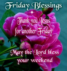 Good Morning & Happy Friday! Thank you Lord for being my protector, provider, healer, restorer & comforter. You're everything to me!