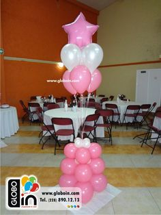 Las 36 mejores im genes de decoraci n con globos para 15 for Arreglos de salon para quince anos