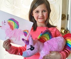 Turn your kid's paper drawings into cute and cuddly plush dolls using this specialized service from Budsies.You simply email a picture of your child's artwork and in a few short weeks you'll have a customized plushie delivered right to your doorstep.
