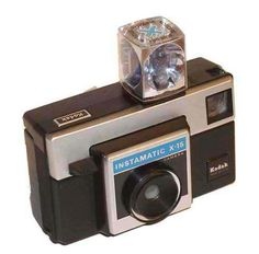 The old school cameras that took film and flash cubes