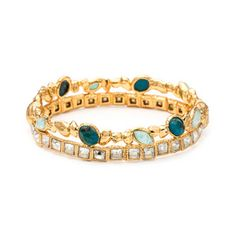 Gold Muse D\'or Stacked Hinged Bracelet - Alexis Bittar