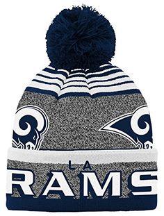 a5a1f59602872e NFL Youth Boys Cuff Pom Hat-Dark Navy-1 Size
