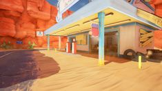 ArtStation - Overwatch - Route 66 Gas Station, Oliver Brown