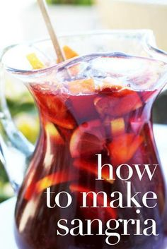 Fancy a jug of sangria tonight? It's super easy to make!
