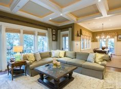 Gorgeous coffered ceiling at 43 Cotton Hall on #Kiawah Island (available for sale as of 05.23.16) #LuxuryRealEstate