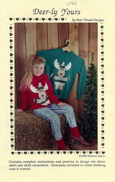 Reindeer Applique Pattern Deerly Yours by debspatterns55 on Etsy, $3.00