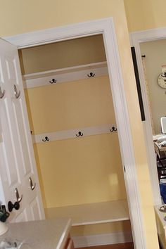 closet mudroom - I NEED something like this, and this is about the size of my entry closet.