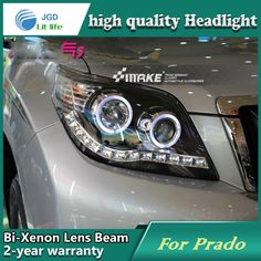 546.25$  Watch here - http://alit9n.worldwells.pw/go.php?t=32703769167 - Car Styling Head Lamp case for Toyota Prado 2009-2012 Headlights LED Headlight DRL Lens Double Beam Bi-Xenon HID Accessories 546.25$