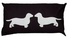 The only thing better than one cute pup is two! Capture your puppy love with this adorable pillow.