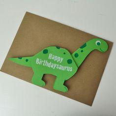 Dinosaur Greetings Card - Green