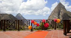 Photo Gallery for Ladera St. Lucia in Soufriere - Saint Lucia Ladera St Lucia, Pitons St Lucia, Ladera Resort, St Lucia Hotels, Next Holiday, Caribbean Sea, Photo Galleries, Patio, Places