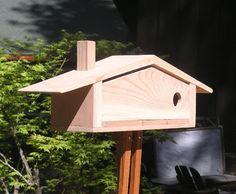 Mid Century Modern Ranch Bird House Atomic by MidCenturyWoodShop