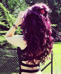 Plum Hair Color for Curly Hair