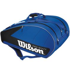 2-11-12: #Borsa per 12 #Racchette da #Tennis: #Wilson Pro Staff 12 Racket Bag 33€
