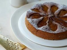Caramelised pear and buckwheat pudding cake from Amber Rose's new cookbook Love Bake Nourish.