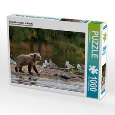 Braunbär Jungtier in Alaska (Puzzle) - CALVENDO