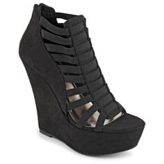 Whether you're rocking skinny denim or a sweet skater skirt, one thing's for sure: your look is on point with the Waver women's shoe from Madden Girl. The stretchy straps and wedge heel go sky high for an ultra-chic silhouette. $49.99 (Compare at $64.00)