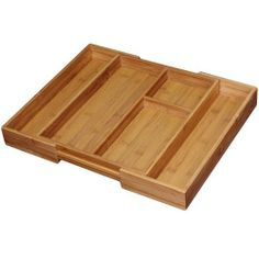 Totally Bamboo Expandable Gadget Tray by Totally Bamboo. $15.44. Thinned walled so organizer doesn't take up drawer space. Constructed of high quality bamboo; ecologically green alternative to wood; dense, versatile and super strong. Keep your kitchen drawers organized and looking great. Tray measures 14-inch by 11-inch by 2-inch; expands to 14-inch by 17-inch by 2-inch. Gadget tray by Totally Bamboo; expands to fit different sized drawers. Simplify your life and beau...