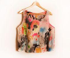 Kindah Khalidy hand-painted top