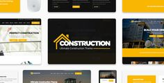 Construction - Ultimate Responsive Construction Template  Construction includes 3 Homepage Demos, each homepage has a unique design and a high conversion rate that will be great for your next project. Construction is a fully responsive. Whatever you...