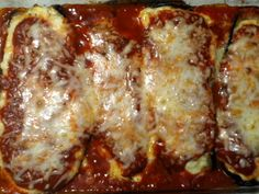 Eggplant Parmesan Rollatini that I made.