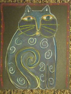 The good blog site :Do Art! Laura Burch cats lesson