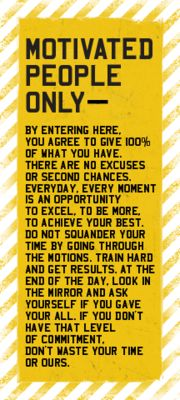 Motivated People Only - This would look PERFECT on my classroom door!