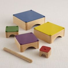 I love how the designer re-invented the xylophone and combined it with the nesting furniture trend. So beautiful and super cool.