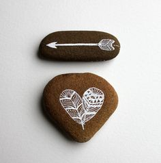 When I find smooth stones, I like to decorate them like this.  Then, I just toss them out in the garden for people to find and be delighted.