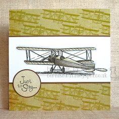 Katrina's Crafting Blog: Vintage Biplane freebie by TLC coloured with Promarkers