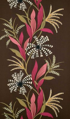 Cosmos is a glamorous collection of velvets and weaves with a subtle, understated air. Flora Flowers, Botanical Flowers, Embroidery Suits Design, Embroidery Designs, Textile Prints, Textile Patterns, Floral Motif, Floral Prints, Linwood Fabrics