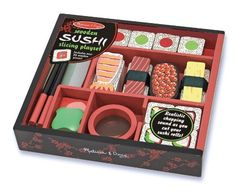 Melissa & Doug 12608 - Set da Gioco in Legno Taglia Il Sushi