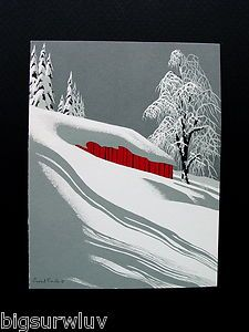 Eyvind Earle. One of his earlier Christmas cards.