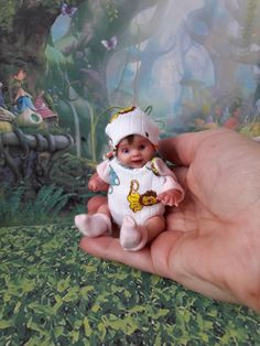 I 'm Natalya Kovaleva. My doll has been sculpted entirely freehand by myself from artist polymer clay. This tiny boy -surprised little boy. I hope that the doll lift your mood and give many hours of joy. | eBay!