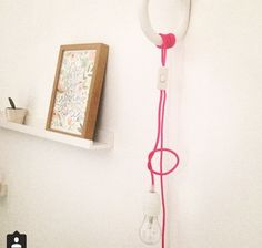 Inspirational Cord light and Hay hook