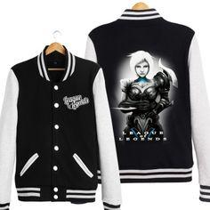 Riven baseball jacket for boys LOL League of Legends black baseball uniform