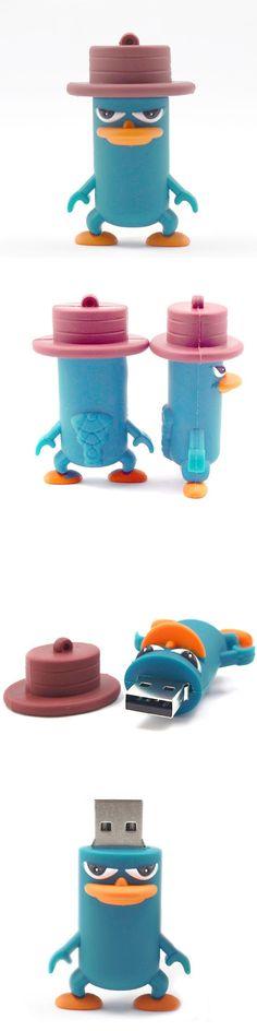 2015 hot sale duckbill cartoon pendrive 64gb 32gb 16gb  Animal usb flash drive cute pendrive platypus usb stick
