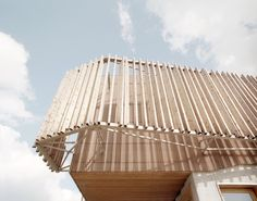 Water-treatment plant outside Paris remodelled by AWP to reveal its industrial processes to the public. Wooden Facade, Wood Architecture, Clinic Design, Plant Pictures, Water Treatment, Wood Paneling, Positano, Gallery, Anna