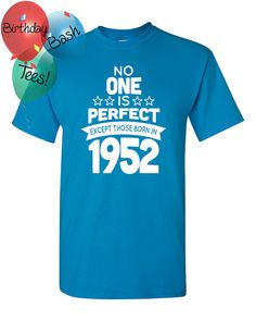 64 Year Old Birthday Shirt No One is Perfect by BirthdayBashTees